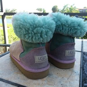 UGGS Purple + Teal Wool Girls Boots